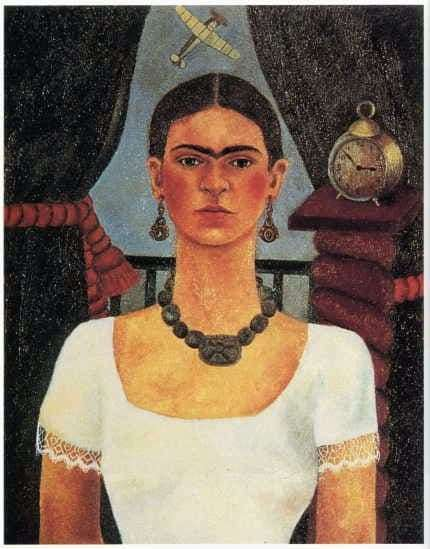 Description of the painting by Frida Kahlo Self portrait