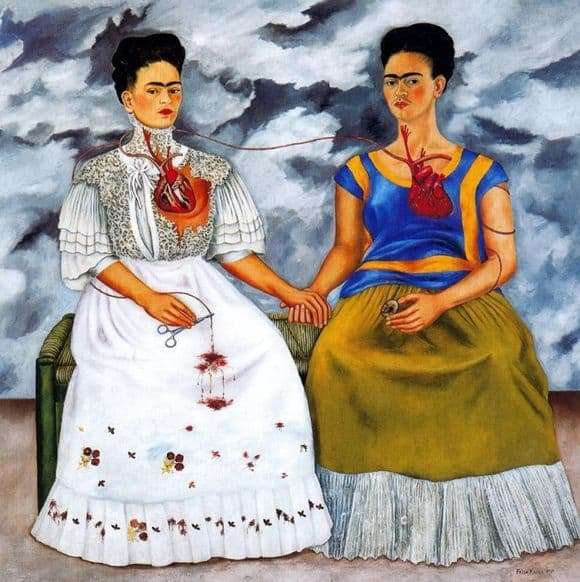 Description of the painting by Frida Kahlo Two Frieds