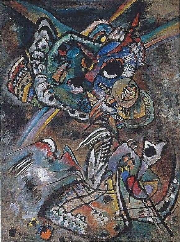 Description painting Wassily Kandinsky Twilight (1917)
