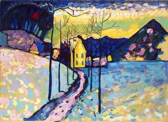Description of the painting by Vasily Kandinsky Winter Landscape