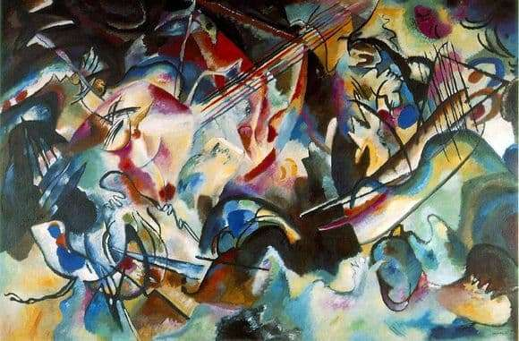 Description of the painting by Wassily Kandinsky Composition VII