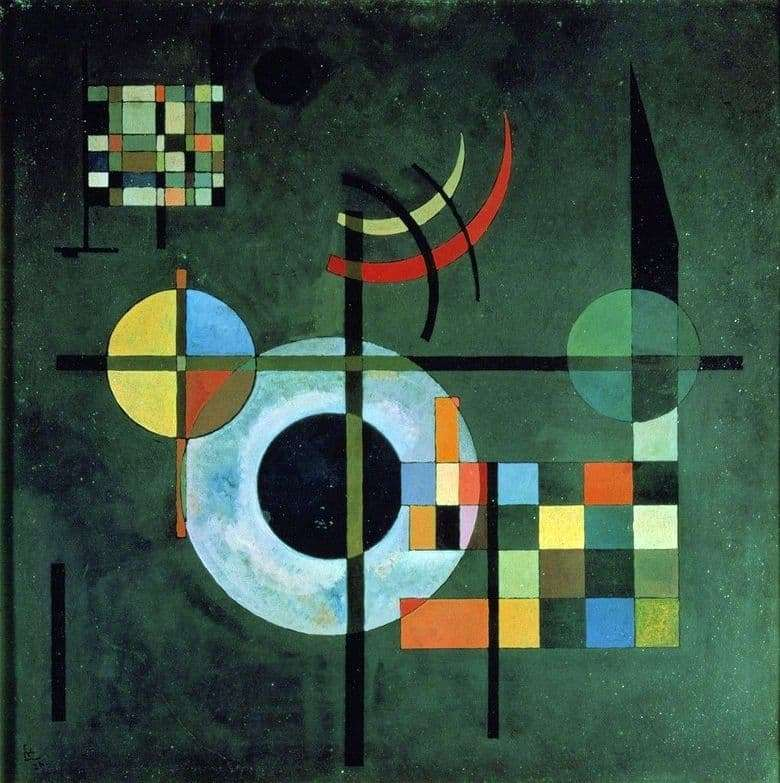 Description of the painting by Wassily Kandinsky Gravity