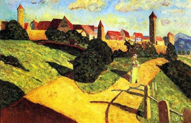 Description of the painting by Wassily Kandinsky Old Town (1902)