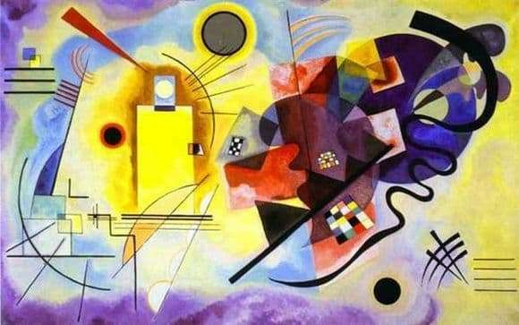 Description of the painting by Wassily Kandinsky Yellow red blue