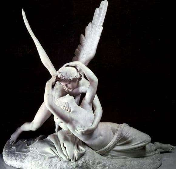 Description of the sculpture by Antonio Canova Cupid and Psyche