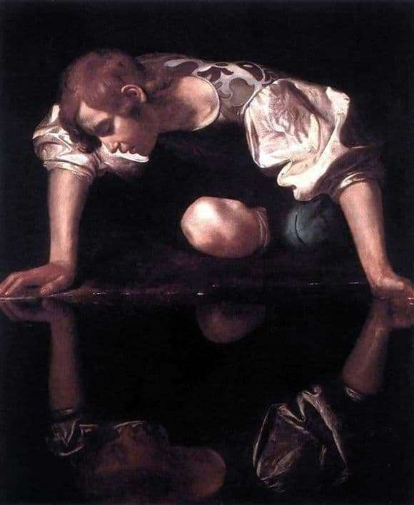 Description of the painting by Michelangelo Merisi da Caravaggio Narcissus
