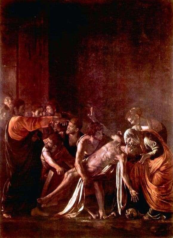 Description of the painting by Michelangelo Merisi da Caravaggio Resurrection of Lazarus