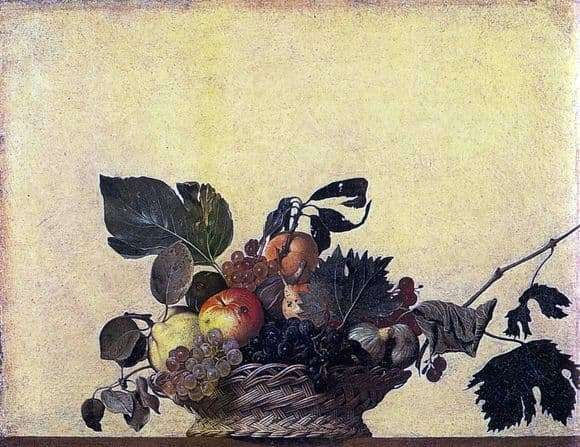 Description of the painting by Michelangelo Merisi da Caravaggio Fruit Basket