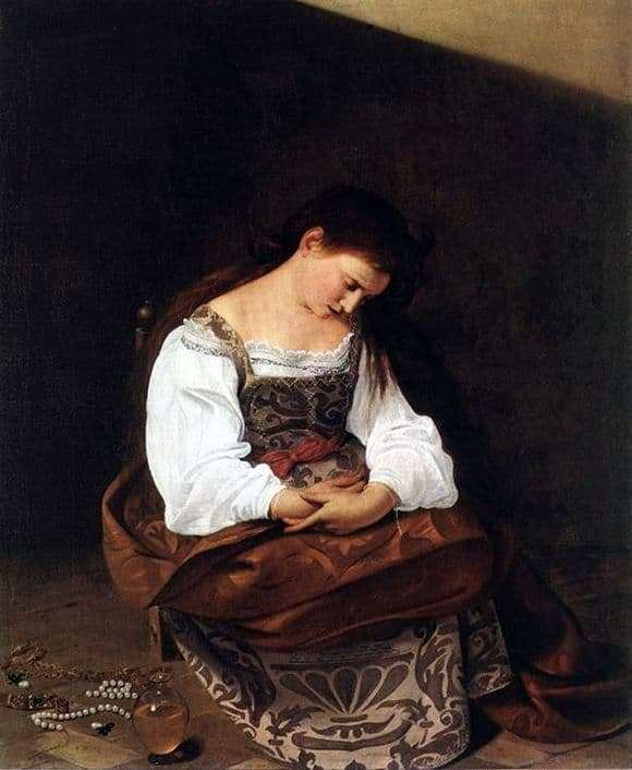 Description of the painting by Caravaggio The Penitent Mary Magdalene