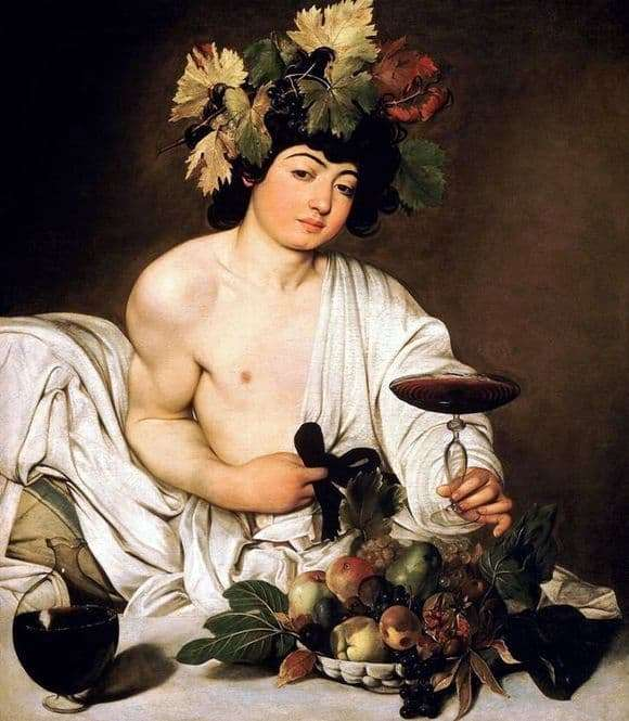 Description of the painting by Michelangelo Merisi da Caravaggio Bacchus (Bacchus)