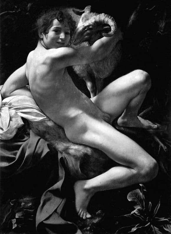 Description of the painting by Michelangelo Merisi da Caravaggio John the Baptist (A young man with a ram)