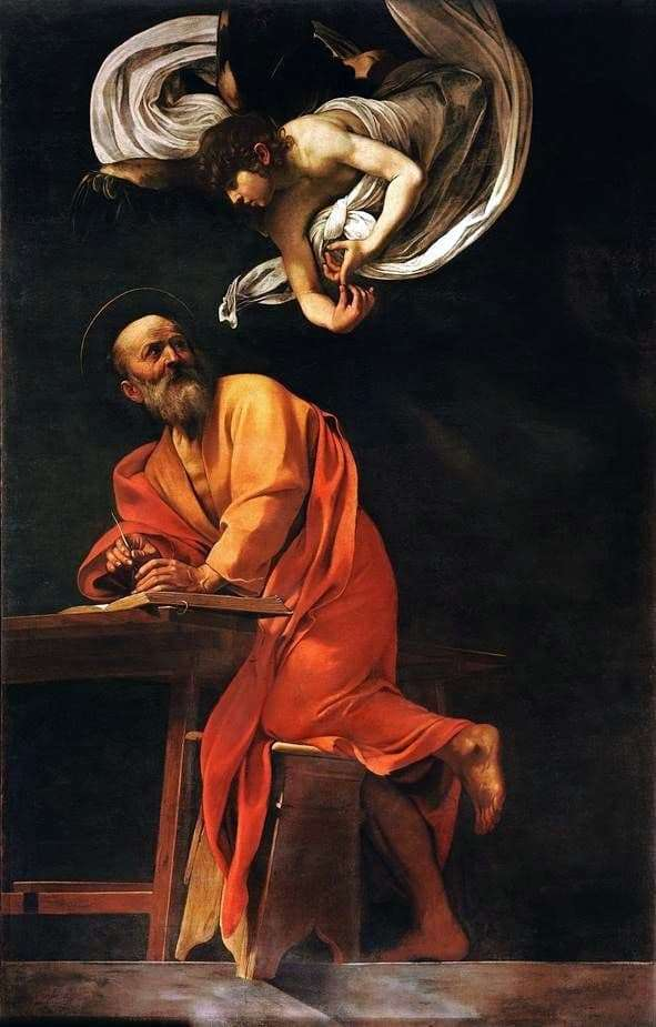 Description of the painting by Michelangelo Merisi da Caravaggio St. Matthew and the Angel