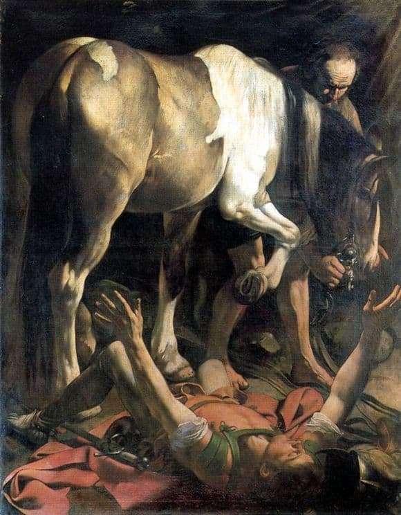 Description of the painting by Michelangelo Merisi da Caravaggio The Conversion of Saul