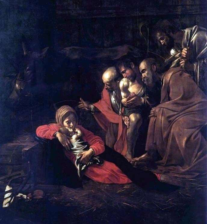 Description of the painting by Michelangelo Merisi da Caravaggio Adoration of the Shepherds