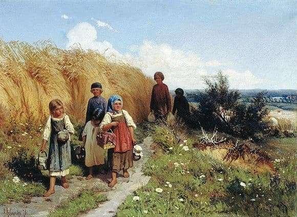 Description of the painting by Alexei Kivshenko Zhnitvo