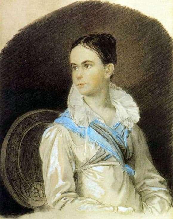 Description of the painting by Orest Kiprensky Portrait of Natalia Kochubey