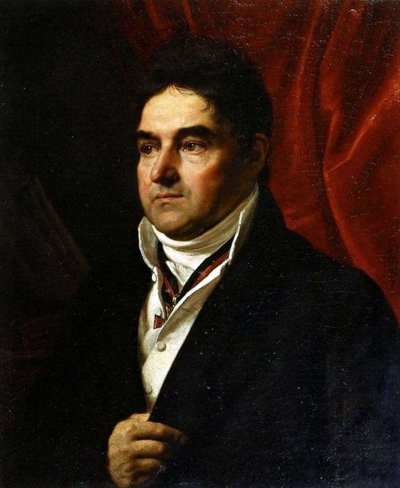 Description of the painting by Orest Kiprensky Portrait of V. S. Khvostov (1814)