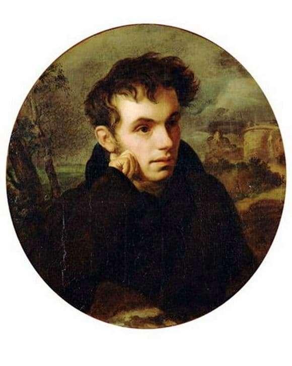 Description of the painting by Orest Kiprensky Portrait of Zhukovsky