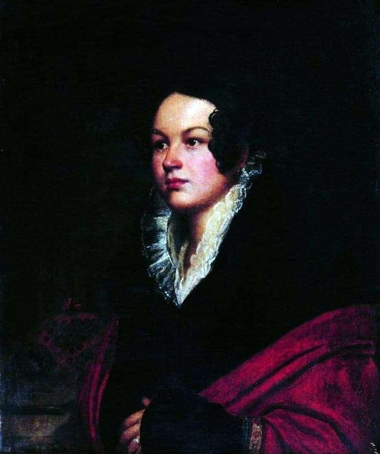 Description of the painting by Orest Kiprensky Womans Portrait