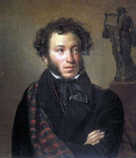Description of the painting by Orest Kiprensky Portrait of Alexander Pushkin