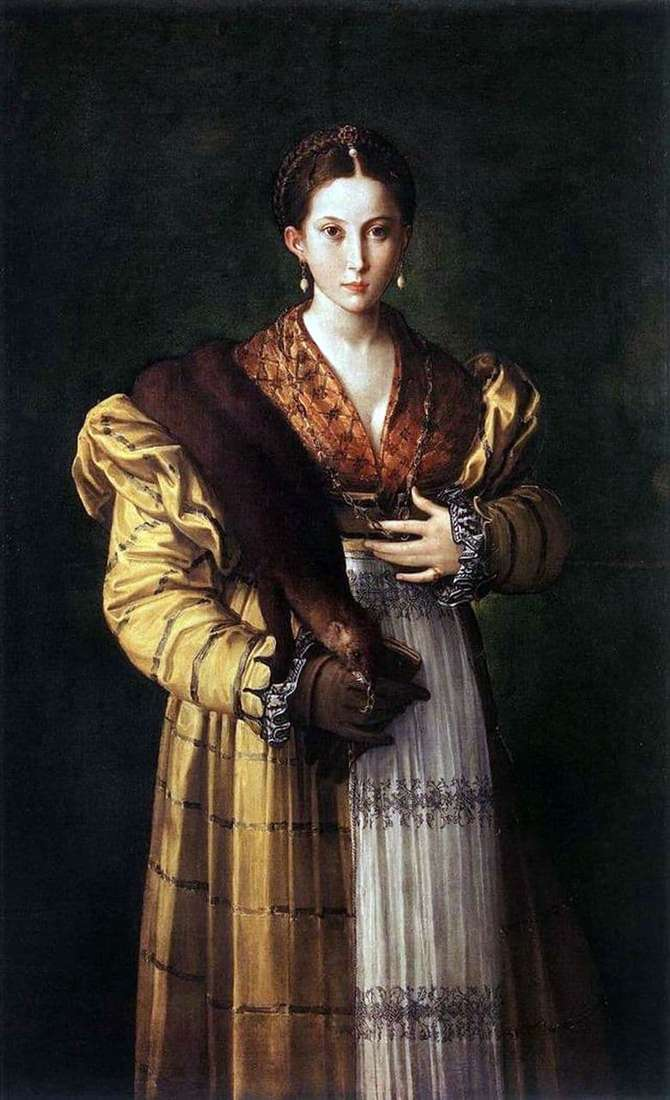 Description of the painting by Francesco Parmigianino Anthea