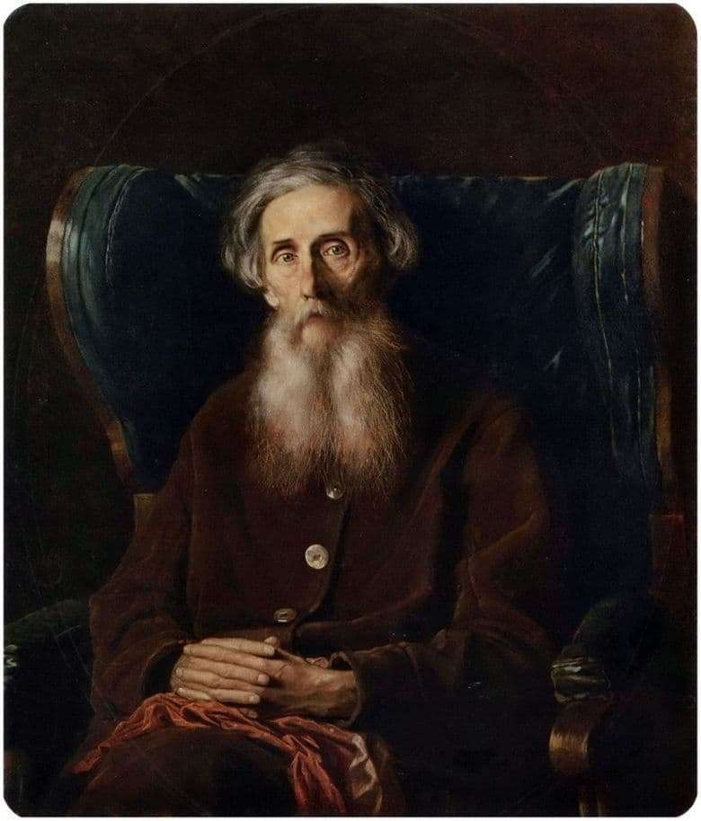 Description of the painting by Vasily Perov Portrait of Vladimir Dahl