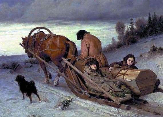 Description of the painting by Vasily Perov Seeing the dead