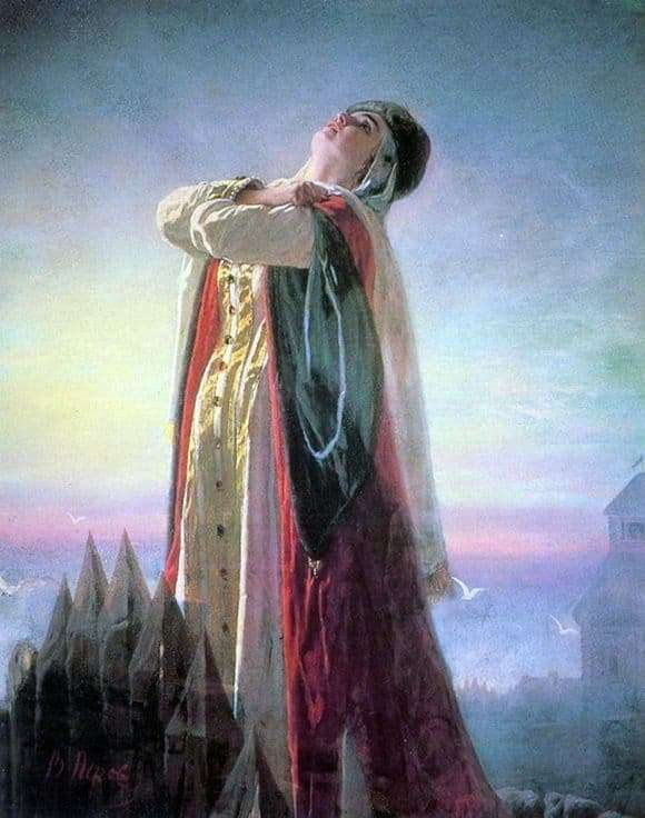Description of the painting by Vasily Perov Plach Yaroslavna