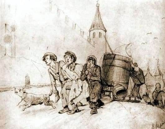 Description of the painting by Vasily Grigorievich Perov Troika