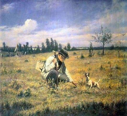 Description of the painting by Vasily Perov Botanist