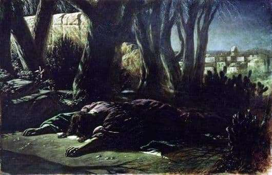 Description of the painting by Vasily Perov Christ in the Garden of Gethsemane