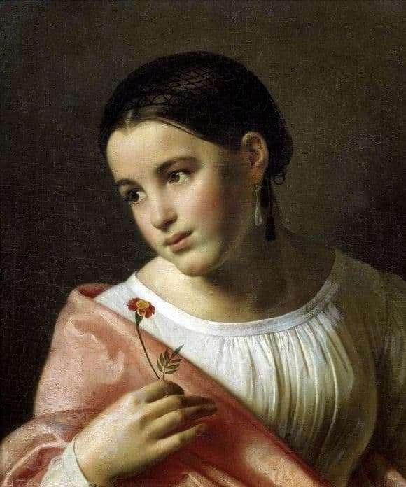 Description of the painting by Orest Kiprensky Poor Lisa