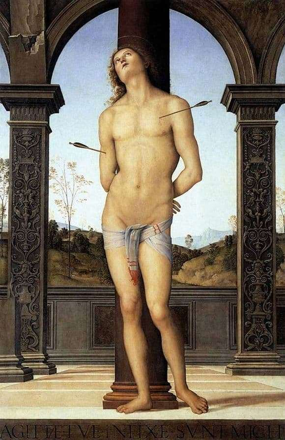 Description of the painting by Pietro Perugino Saint Sebastian