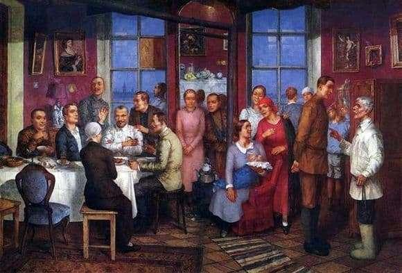 Description of the painting by Kuzma Petrov Vodkin Housewarming