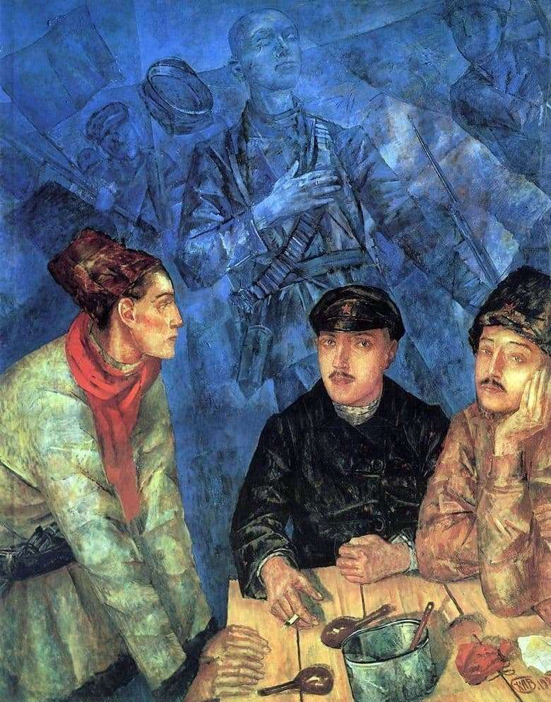 Description of the painting by Kuzma Petrov Vodkin After the battle