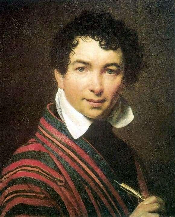 Description of the painting by Orest Kiprensky Self portrait