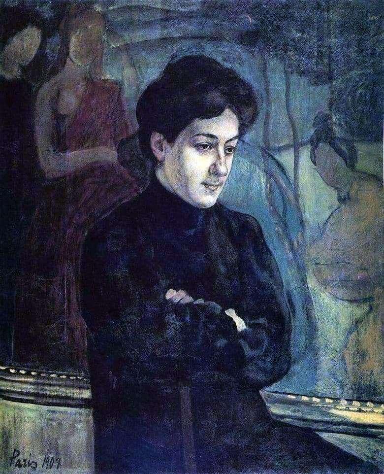 Description of the painting by Kuzma Petrov Vodkin Portrait of M. F. Petrov Vodkin