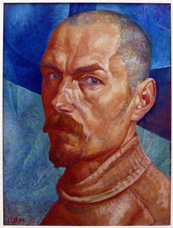 Description of the painting by Kuzma Petrov Vodkin Self portrait