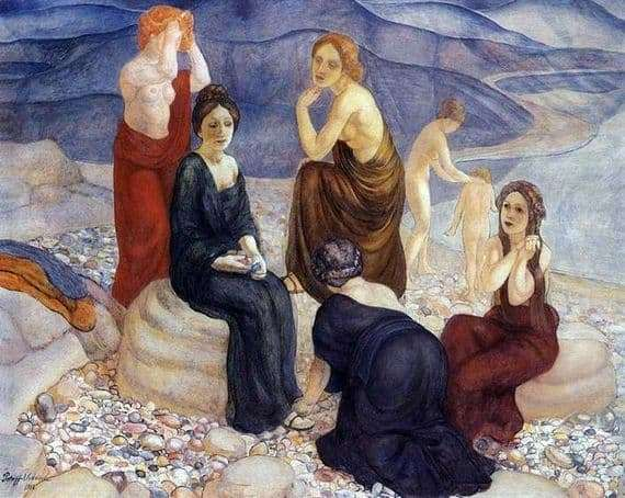 Description of the painting by Kuzma Petrov Vodkin Coast