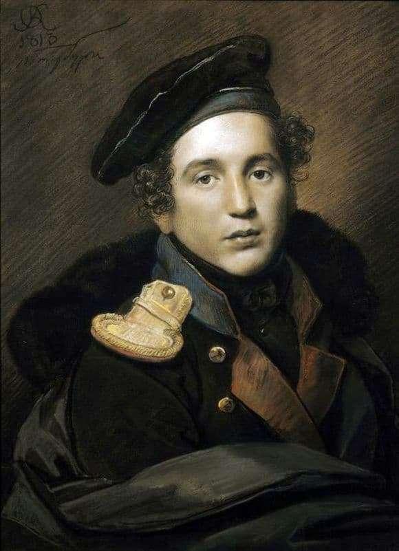 Description of the painting by Orest Kiprensky Portrait of Alexei Olenin