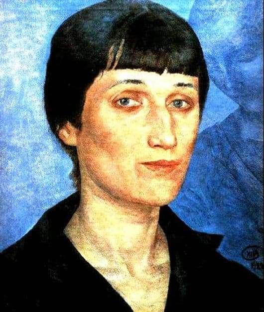 Description of the painting by Kuzma Petrov Vodkin Portrait of Anna Akhmatova