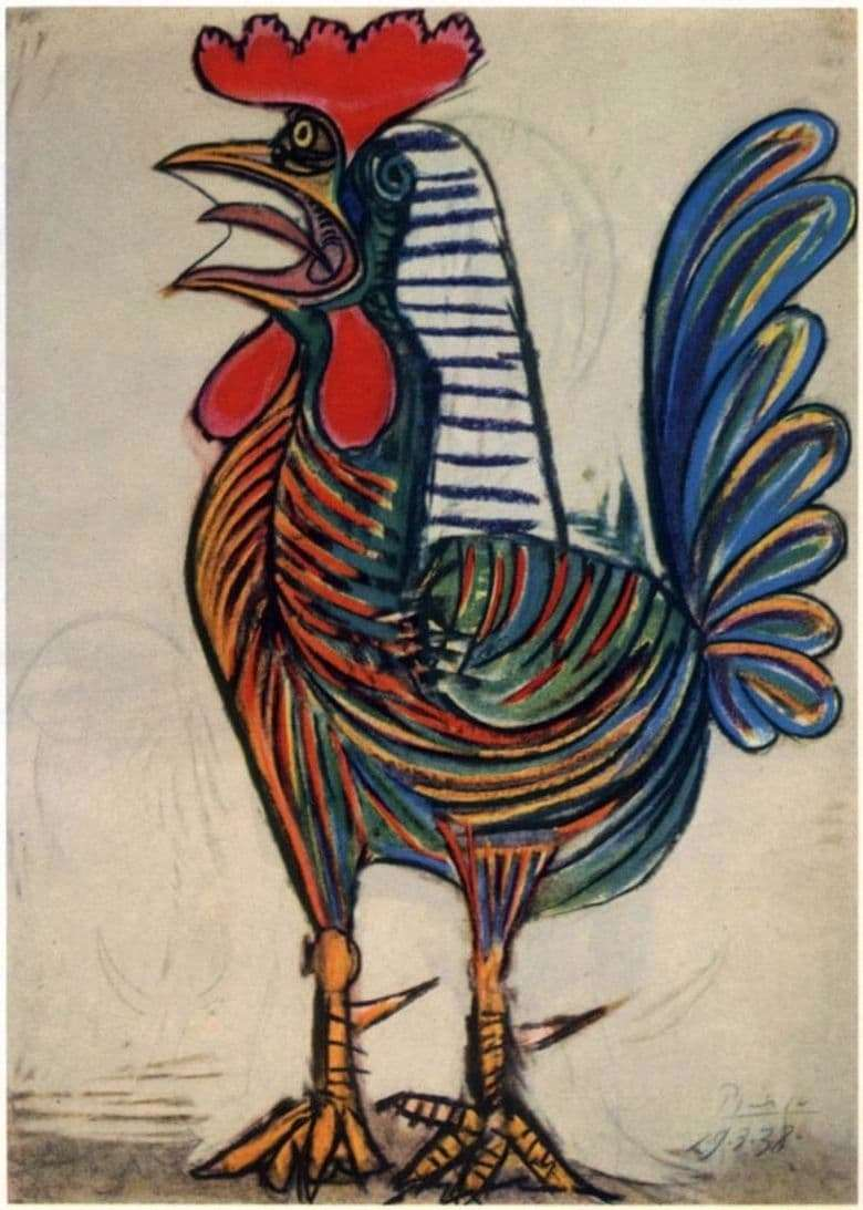 Description of the painting by Pablo Picasso The Rooster