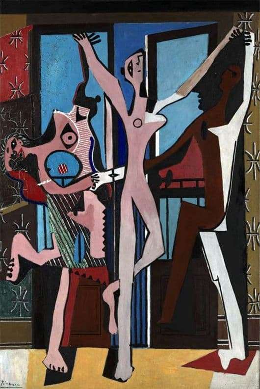 Description of the painting by Pablo Picasso Dance