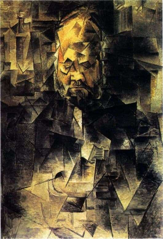 Description of the painting by Pablo Picasso Portrait of Ambroise Vollard