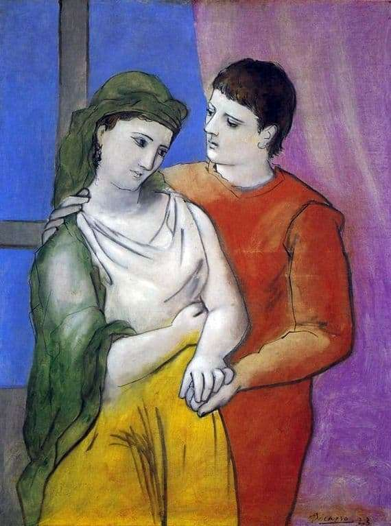 Description of the painting by Pablo Picasso Lovers