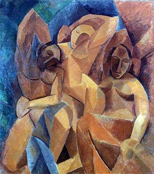 Description of the painting by Pablo Picasso Three Women