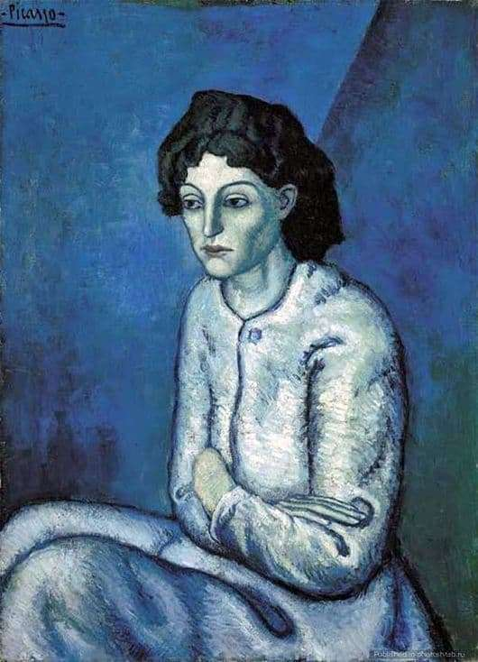 Description of the painting by Pablo Picasso Woman with arms crossed