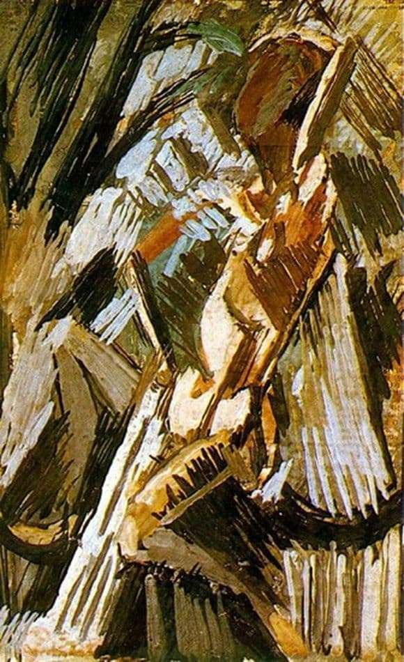 Description of the painting by Pablo Picasso Bather