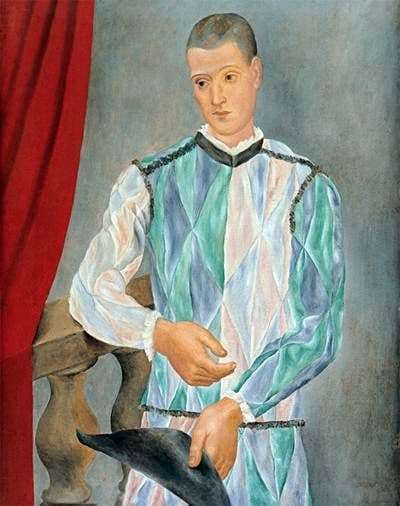 Description of the painting by Pablo Picasso Harlequin