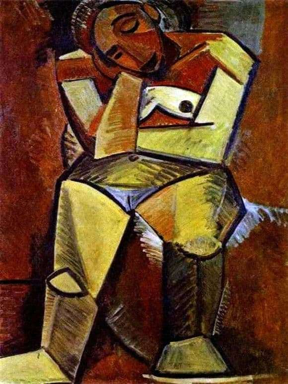 Description of the painting by Pablo Picasso Sitting Woman
